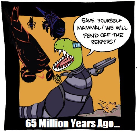 Mass Effect explains the dinosaurs