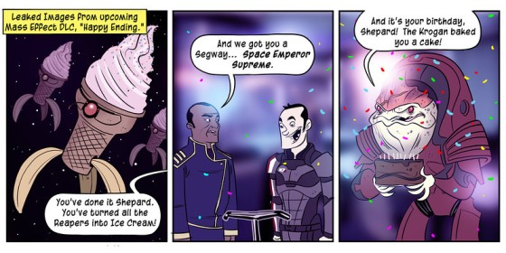 Penny Arcade on Mass Effect 3 Ending DLC